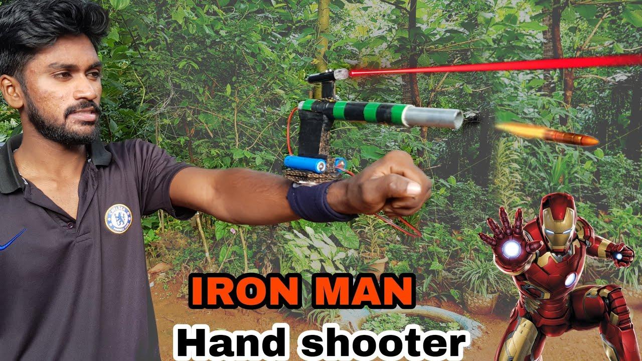 Iron man laser toy pvc pipe craft experiments du it malayalam