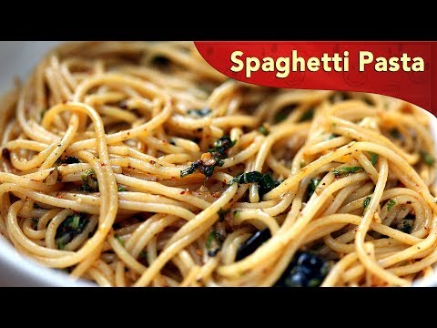 Spaghetti Pasta With Garlic And Olive Oil | Pasta Recipe | Easy Cooking | Cook Book