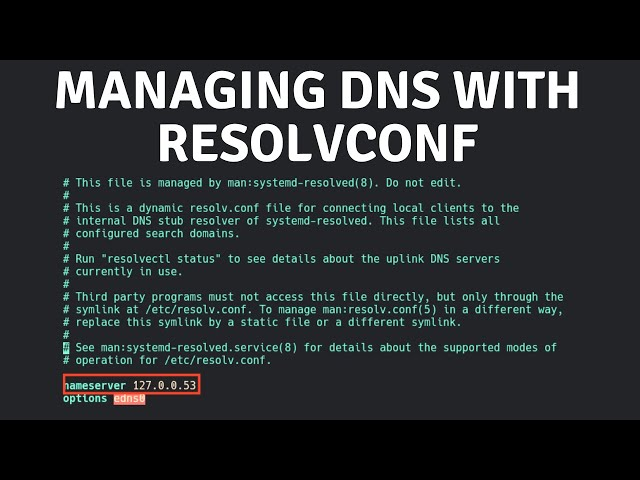 Managing DNS With resolvconf
