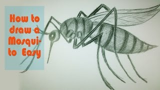 mosquito drawing draw easy drawings animal getdrawings paintingvalley