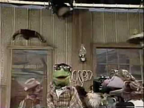 classic sesame street kermit on the set of oklahoma