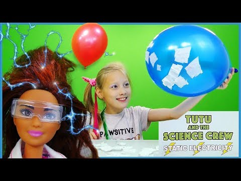 Barbie Easy Kids Science Experiments Static Electricity
