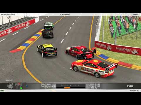 Australian V8 Supercars At Adelaide / TV Style View / RFactor 2 2020