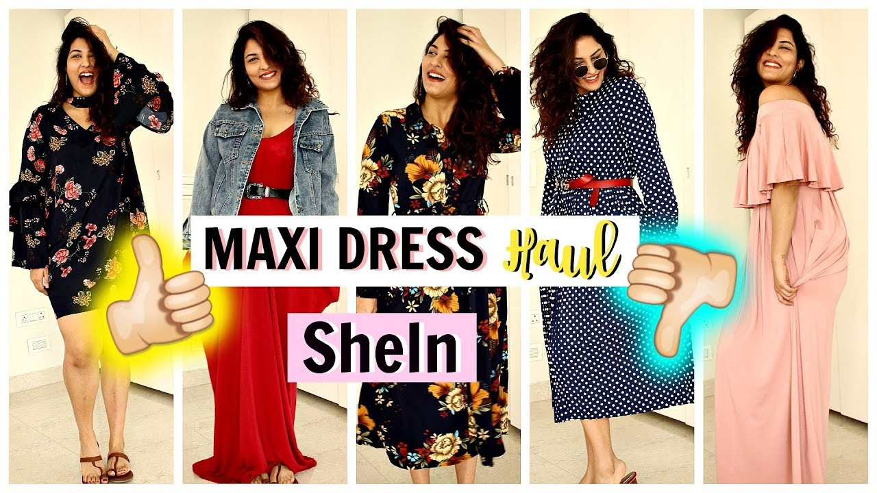 12d313e30e SheIn Haul : MAXI DRESSES YOU NEED RIGHT NOW! | Hit Or a Miss? |  StyleMeUpWithSakshi