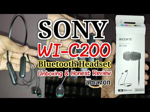 SONY WI-C200 Bluetooth Headset With Mic Unboxing And Honest Review | Bought It From Amazon