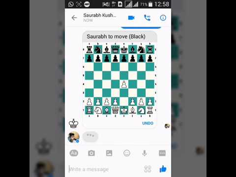How to play chess on Facebook Messenger 😊👌👍