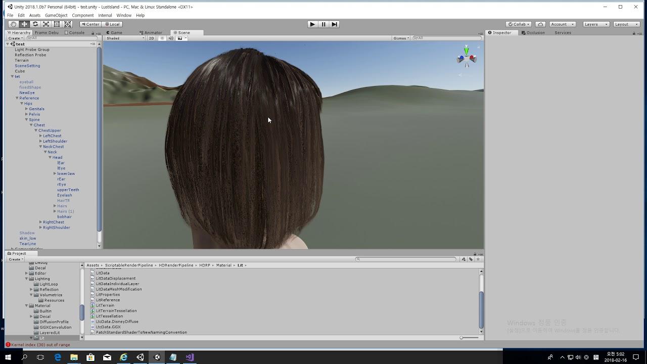 Hair rendering in Unity HD SRP