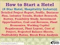 How to Start a Hotel (4 Star Hotel, Hospitality Industry)Detailed Project Report, Business Plan