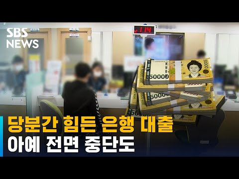 은행 대출 연말까지 '바늘구멍'…아예 전면 중단도 / SBS