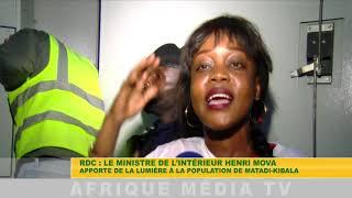RDC : LE MINISTRE DE L'INTÉRIEUR HENRI MOVA APPORTE DE LA LUMIÈRE À LA POPULATION DE MATADI KIBALA
