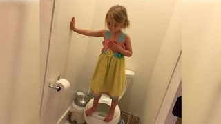 Why This Little Girl is Standing on a Toilet Broke Her Mother's Heart