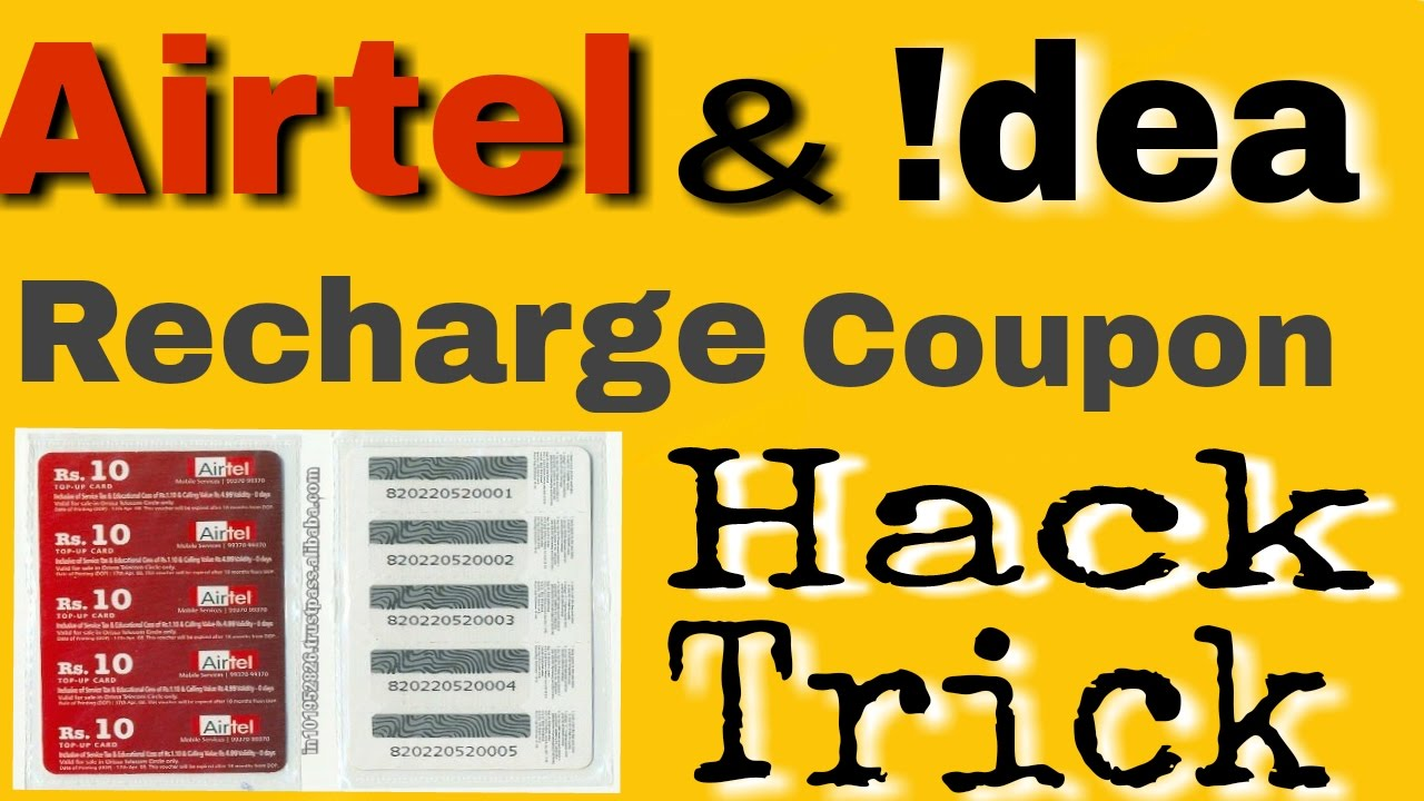 How to Hack Airtel & Idea Recharge Coupon's