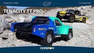 Load Video 1:  Losi 1/10 Tenacity TT Pro Smart ESC 4WD RTR Green/Blue