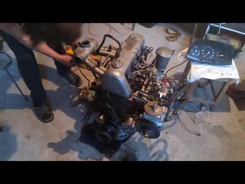 First start engine Mercedes Benz W123 OM615 after overhaul