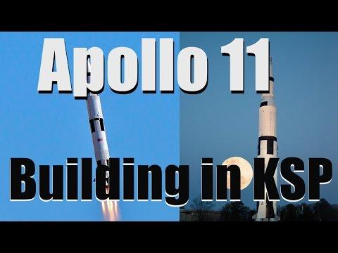 Building Saturn V Rocket in Stock Kerbal Space Program