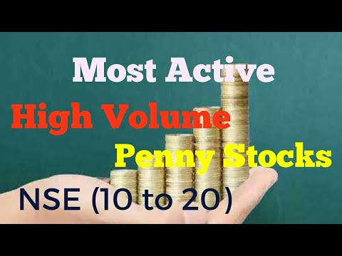 High volume most active NSE stock (rs 10 to 20)