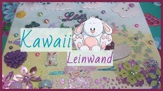 Watch me Craft ^^  Kawaii-Leinwand ✷ Tutorial ✷ Mixed Media