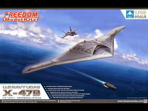 Freedom Model Kits : X-47B : 1/48 Scale Model : In Box Review