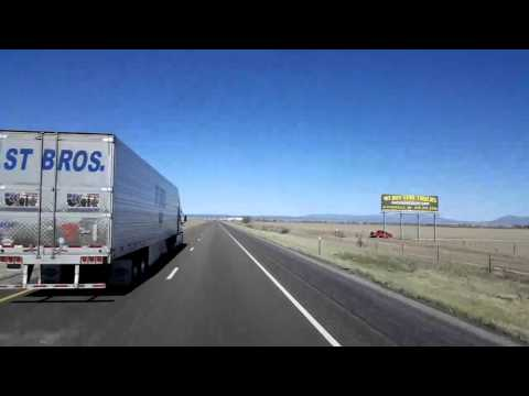 BigRigTravels LIVE! - East of Moriarty to McCartys, New Mexico I-40 West - May 7, 2016 9:55 AM