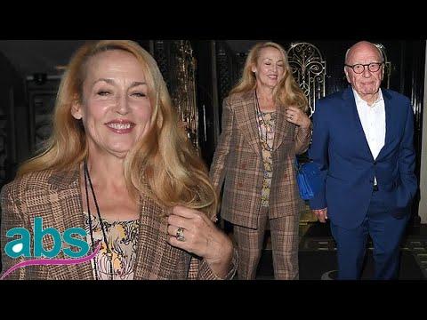 Jerry Hall, 61, Enjoys Date With Husband Rupert Murdoch, 87  | ABS US  DAILY NEWS