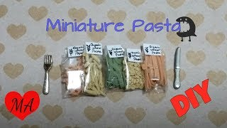 MINIATURE pasta TUTORIAL // DOLLHOUSE // DIY