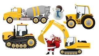 Juguetes Divertidos Video Para Niños - Descubre la Excavadora Tractor Camión Grúa Hormigonera JOAL
