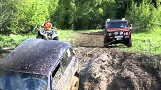 Niva VS Toyota Land cruiser или  Саня газуй