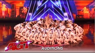 Emerald Belles Texas High Kick Dance Group Is HUGE! | America's Got Talent 2019