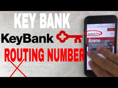 ✅  Key Bank ABA Routing Number - Where Is It? 🔴