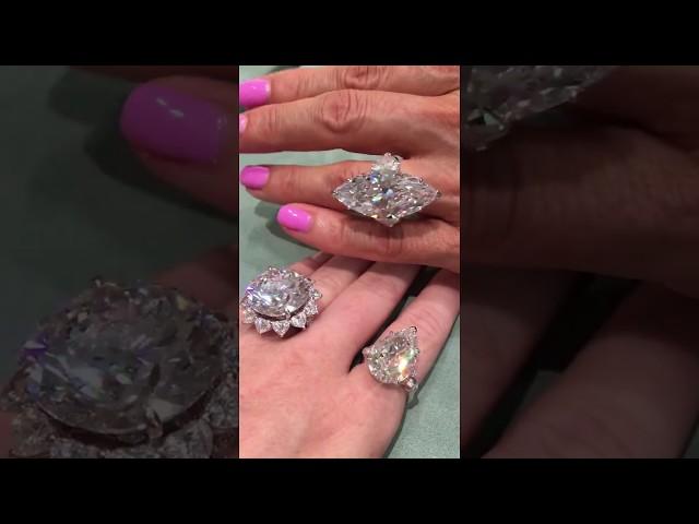 Three Graff diamond rings, one Flawless, two IF (Internally Flawless)