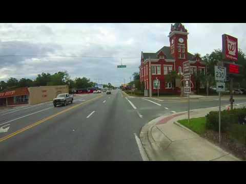 Driving through Starke, Florida on US 301