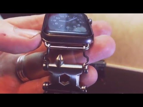 Leatherman tread with Apple Watch