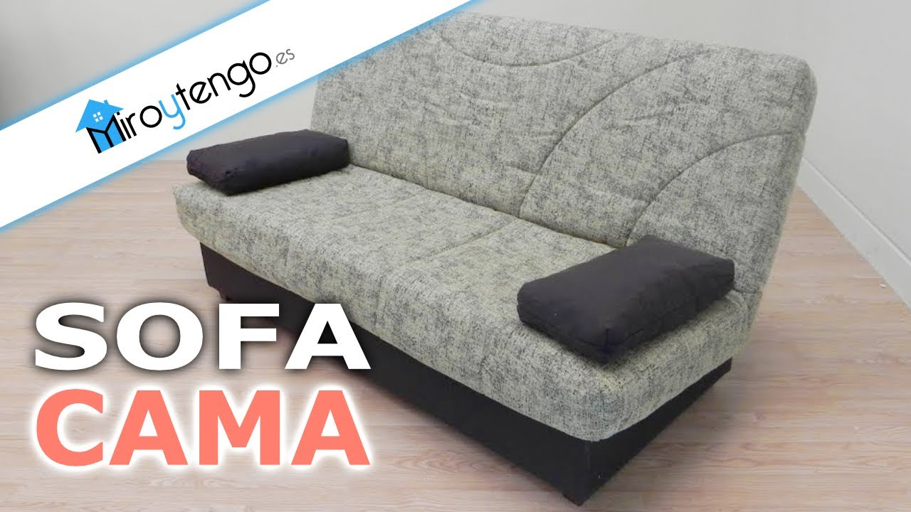 Sofa cama con somier colchon y arcon tapizado marron o for Sofa cama con arcon