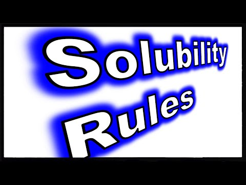 Solubility Of Ionic Compounds: Basics And Rules