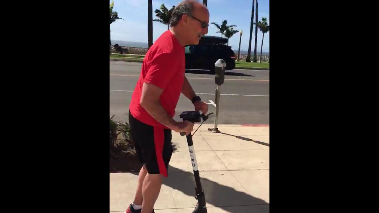 Bird Electric Scooter Rental In Santa Monica Free Ride Youtube