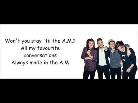 A.M - One Direction (Lyrics)