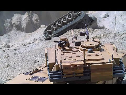 Heavy RC Tank Battle! Huge Tank Explosion! Incredible Tiger and Abrams Tank  Battle!