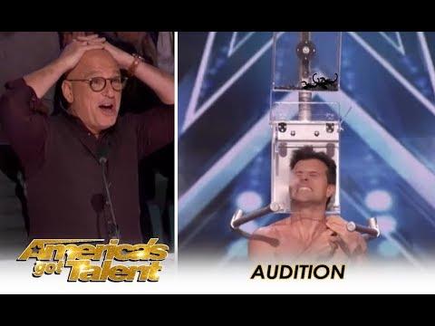 Escape Artist EXTREMELY 💥 Dangerous Scorpion Escape! | America's Got Talent 2018