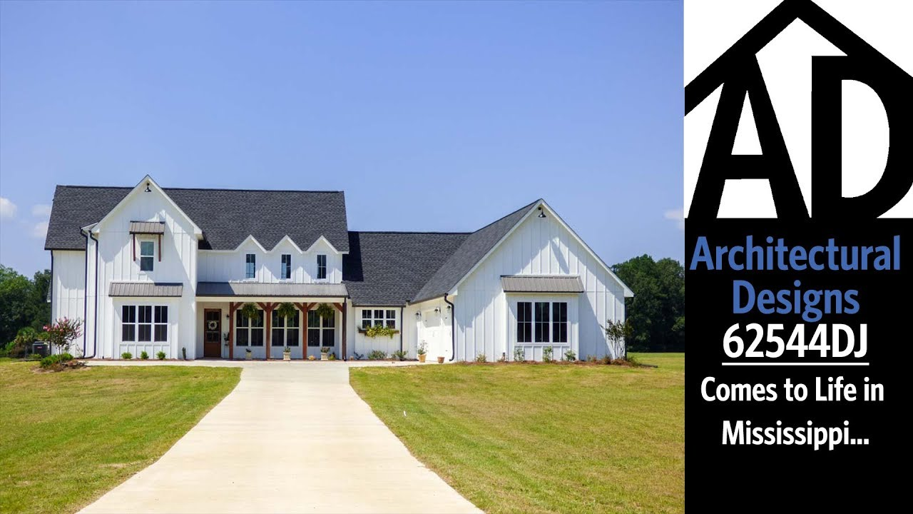 Architectural Designs Farmhouse Plan 62544DJ Comes To Life In Mississippi