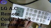 LG Air Conditioners: AC Remote Working Issues - YouTube