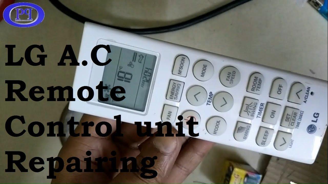 LG Air Conditioner Remote Control Repair