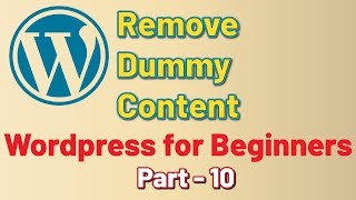 Remove Dummy Content WordPress for Beginners