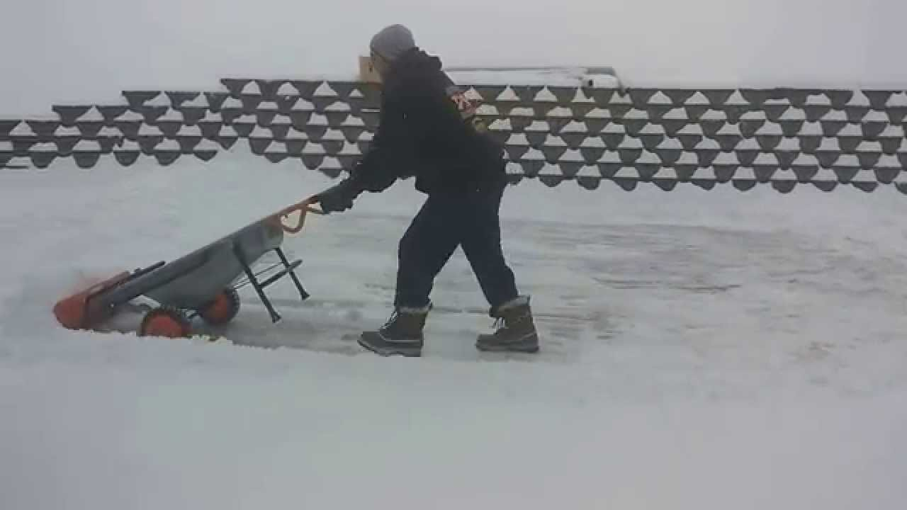 Using The Worxs Aerocart With Snow Plow Attachment
