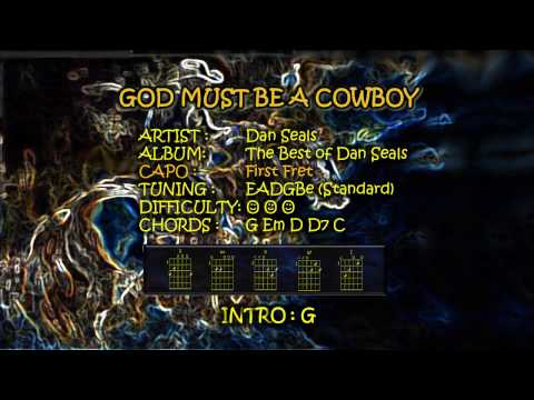 God Must Be A Cowboy Chords and Lyrics