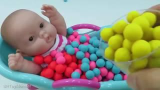 Baby Doll Bath time Learn Colors Baby Doll Potty training Video