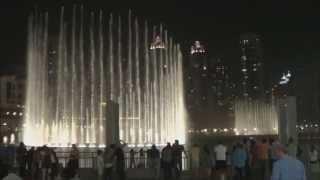 Dubai Fountain / Fontänen [FullHD] [DolbySurround] Wen Bie by Jacky Cheung; Chinese Song