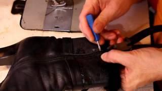 Смотреть видео ремонт обуви перово
