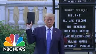 President Donald Trump Faces Criticism After Church Visit | NBC Nightly News
