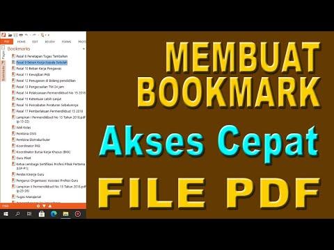 membuat bookmark akses cepat file pdf - navigasi file pdf