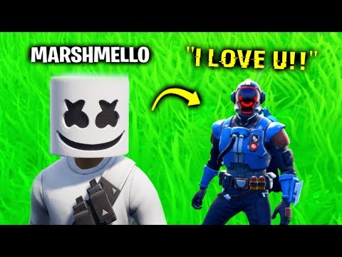 I Pretended To Be Marshmello In Fortnite